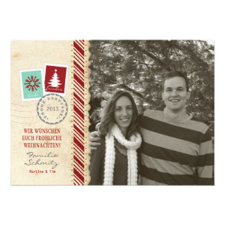 Feiertag Fotokarte Vintage Invitation