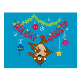 Feiertag hängen oben postkarte