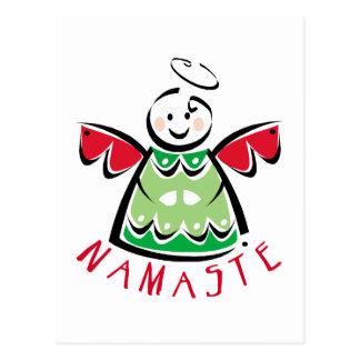 Feiertag Namaste Engel Postkarte
