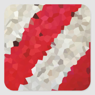 Feiertag rot und weißes Zuckerstange-Mosaik Quadratischer Aufkleber