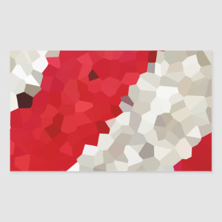 Feiertag rot und weißes Zuckerstange-Mosaik Rechteckiger Aufkleber