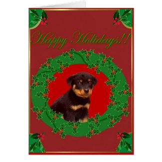 Feiertag Rottweiler Grußkarte