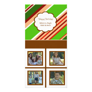 Feiertag Stripes weißen Hintergrund Fotokartenvorlage