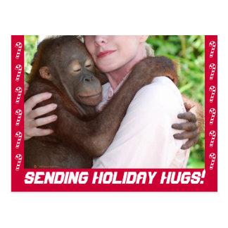 Feiertag umarmt Postkarte