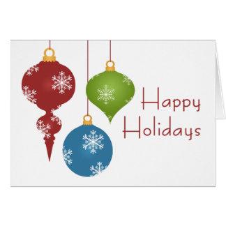 Feiertag verziert Weihnachtskarten Karte