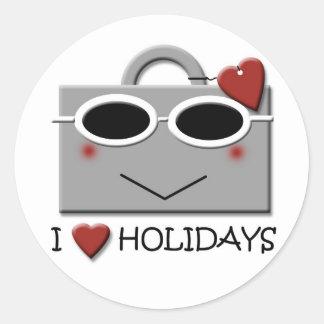 Feiertage der Liebe I Runder Aufkleber