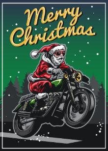 Frohe Weihnachten Motorrad.Weihnachtsmann Motorrad Geschenke Zazzle De