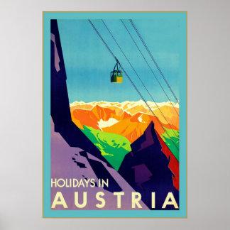 Feiertage in Österreich ~Vintage Reise Poster