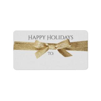 Feiertage wenden sich, oder Geschenk beschriftet   Adressaufkleber