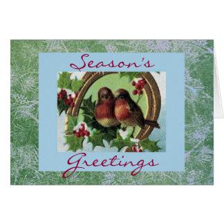 Feiertaglovebirds-Kartenschablone Grußkarte