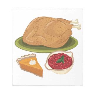Feiertags-Abendessen Notizblock