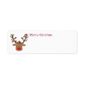 Feiertags-Adressen-Etiketten