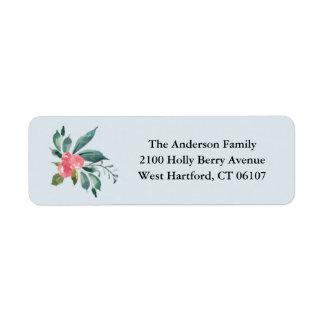 Feiertags-Beeren-Rücksendeadressen-Aufkleber Kleiner Adressaufkleber