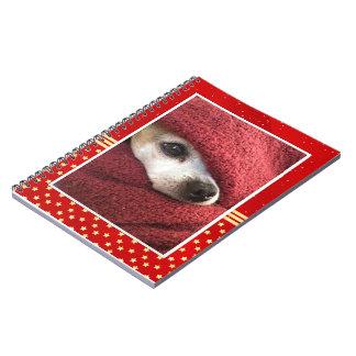 Feiertags-Chihuahua Notizblock