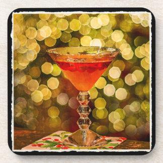 Feiertags-Cocktail mit Getränkeuntersetzer