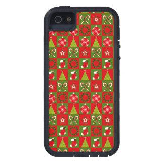 Feiertags-dekorative Quadrate iPhone 5 Schutzhülle