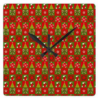 Feiertags-dekorative Quadrate Quadratische Wanduhr