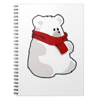 Feiertags-Eisbär Notizblock