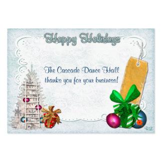Feiertags-Eleganz-Weihnachten GIFT/DISCOUNT Mini-Visitenkarten
