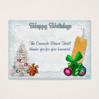 Feiertags-Eleganz-Weihnachten GIFT/DISCOUNT Visitenkarte