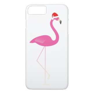 Feiertags-Flamingo iPhone 7 im Weiß iPhone 8 Plus/7 Plus Hülle