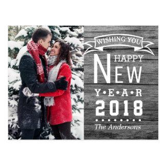 Feiertags-Foto 2018 der glückliches neues Postkarte