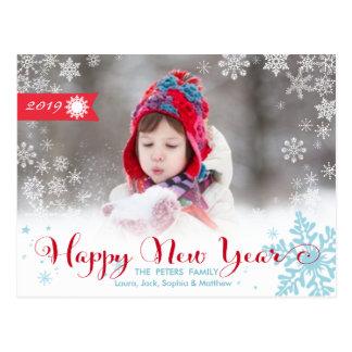 Feiertags-Foto-Karte der glückliches neues Postkarte