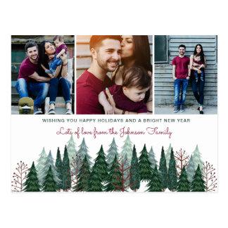 Feiertags-Foto-Karte der Kiefern-Baum-| der Postkarte