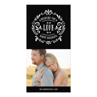 Feiertags-Foto-Karten der Liebe- Fotogrußkarten