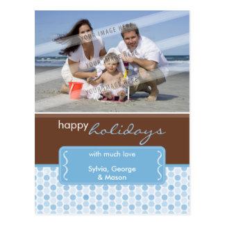 FEIERTAGS-FOTO-POSTKARTE:: gepunktete Klammer P4 Postkarte