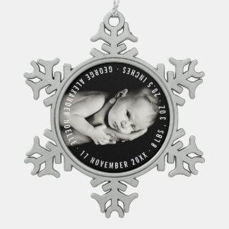 Feiertags-Foto-Verzierung des Babys erste Schneeflocken Zinn-Ornament