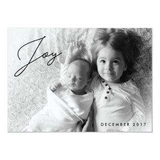 Feiertags-Freude - Familien-WeihnachtsFoto-Karte Karte