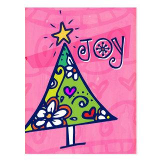 Feiertags-Freude-Weihnachtsbaum-Postkarte