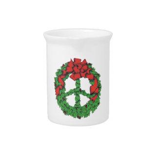 Feiertags-FriedensKranz Getränke Pitcher