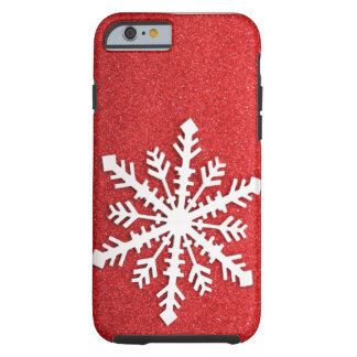 Feiertags-Glitzern-Schneeflocke iPhone 6 Fall Tough iPhone 6 Hülle