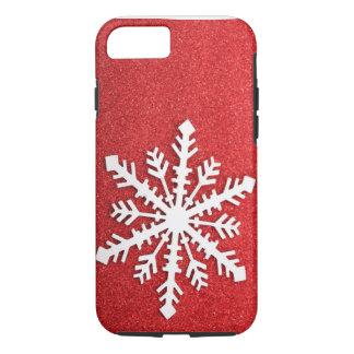 Feiertags-Glitzern-Schneeflocke iPhone 7 Fall iPhone 7 Hülle
