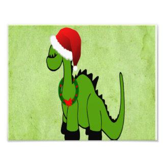 Feiertags-grüner Dinosaurier Photo Drucke