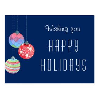 Feiertags-Gruß danken des Postkarte