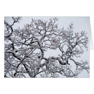Feiertags-Gruß-Winter-Szene Karte