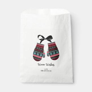 Feiertags-Handschuhe wärmen Geschenktütchen
