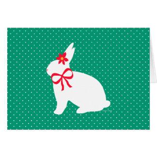 """""""Feiertags-Häschen-"""" Grün-Gruß-Karte Grußkarte"""