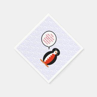 Feiertags-Herr von Bahrein Penguin Papierserviette