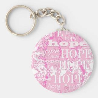 Feiertags-Hoffnungs-Brustkrebs-Bewusstseins-Produk Standard Runder Schlüsselanhänger