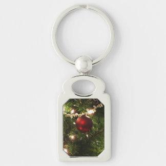 Feiertags-hübsches Grünes und Rot des Schlüsselanhänger
