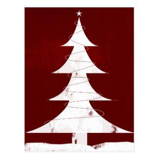 Feiertags-Ikone - Vintager Weihnachtsbaum Postkarte