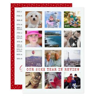 Feiertags-Jahr Foto-der Collage in des Bericht-  Karte