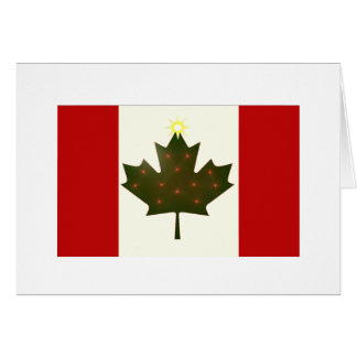 Feiertags-Kanadier-Flagge Karte