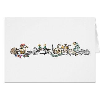 Feiertags-Karte - Herde der Katzen Karte