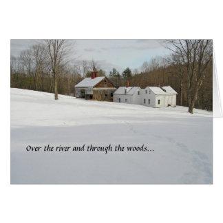 Feiertags-Karte - Winter im Land Grußkarte