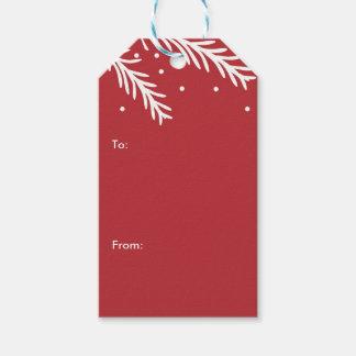 Feiertags-Kiefern-Weihnachtsgeschenk-Umbauten Geschenkanhänger